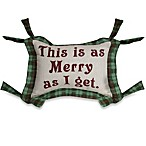 This Is as Merry as I Get 13-Inch x 18-Inch Oblong Holiday Tapestry Accent Pillow