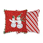 Frosty Friend 17-Inch Square Holiday Tapestry Accent Pillow