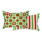 Splash and Dash 13-Inch x 18-Inch Oblong Holiday Tapestry Accent Pillow