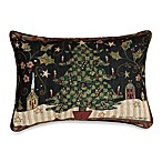 Holiday Greetings 13-Inch by 18-Inch Oblong Tapestry Accent Pillow