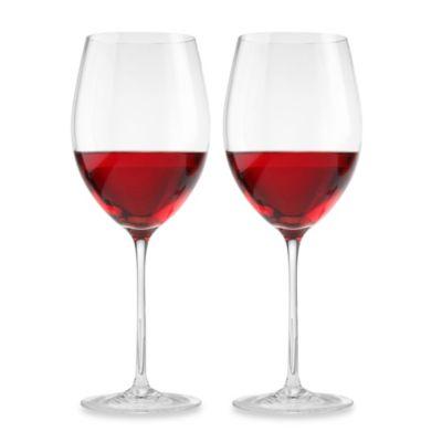 Aquarius 23-Ounce Red Wine Glasses (Set of 2)