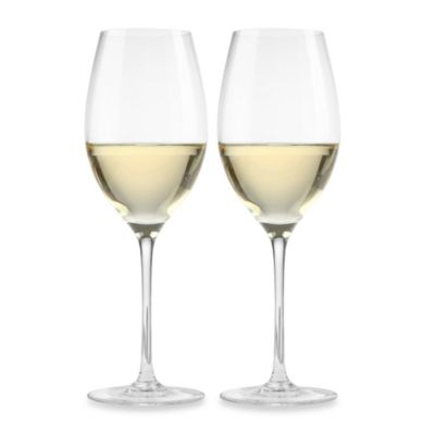 Aquarius 14-Ounce White Wine Glasses (Set of 2)