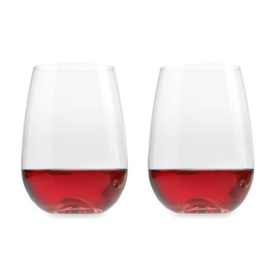 Aquarius 21-Ounce Stemless Wine Glasses (Set of 2)