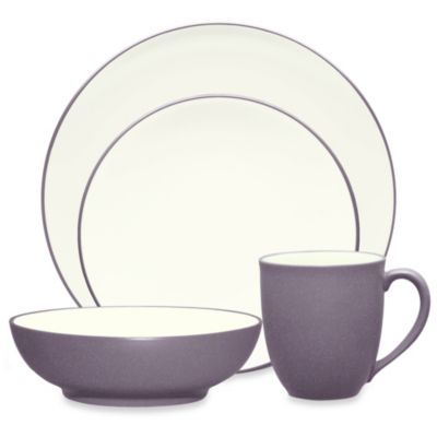 Noritake® Colorwave 4-Piece Coupe Place Setting in Plum