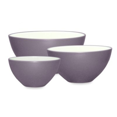 Noritake® Colorwave 3-Piece Mixing Bowl Set in Plum