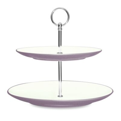 Noritake® Colorwave 2-Tier Hostess Tray in Plum