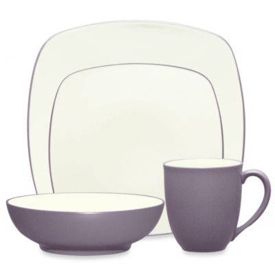 Noritake® Colorwave 4-Piece Square Place Setting in Plum