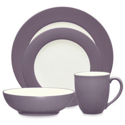 Noritake® Colorwave 4-Piece Rim Place Setting in Plum