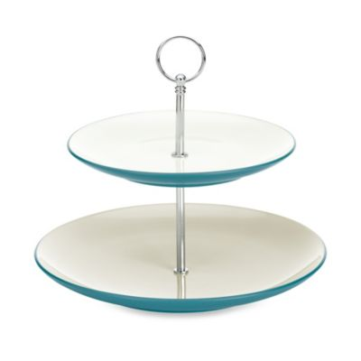 Noritake® Colorwave Two Tier Hostess Tray in Turquoise