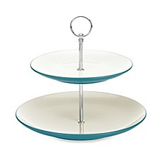 Noritake® Colorwave 2-Tier Hostess Tray in Turquoise