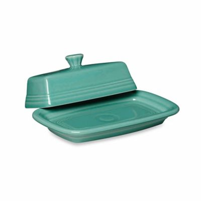 Fiesta® Extra-Large Covered Butter Dish in Lemon Turquoise