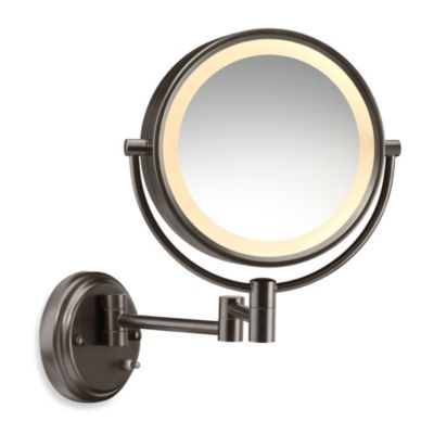 Conair® Wall Mount Dual-Sided Mirror with Oiled Bronze Finish