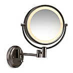 Wall Mount Dual-Sided Mirror with Oiled Bronze Finish