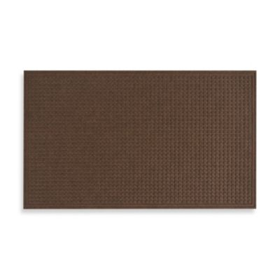 Textured Squares Door Mat in Walnut