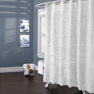 Lush Décor® Rosely White 72-Inch x 72-Inch Shower Curtain
