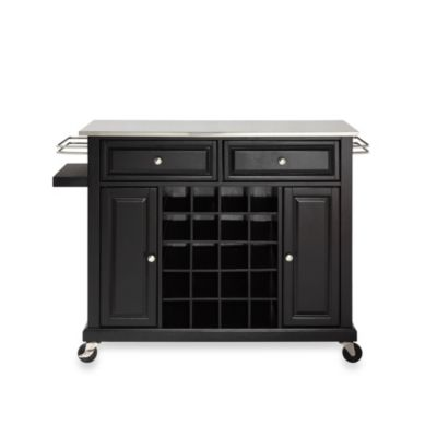 Black Stainless Steel Kitchen Cart