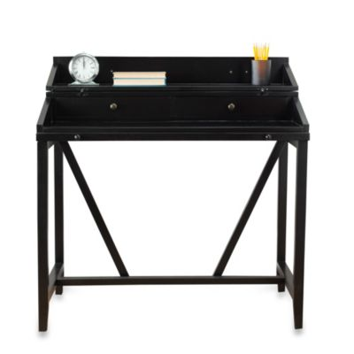 Safavieh Wyatt Writing Desk with Pull-Out Tray in Black