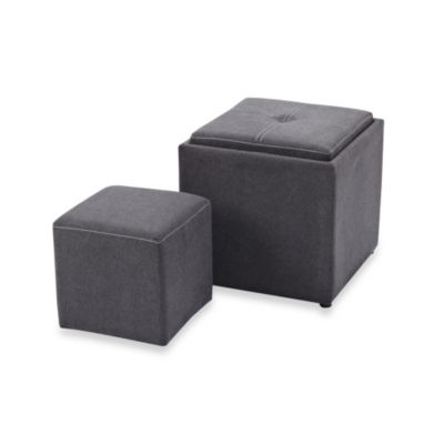 Storage Ottomans With Trays