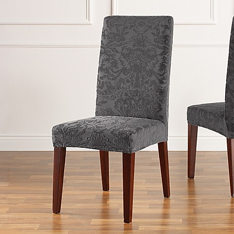 Buy Sure Fit 174 Stretch Jacquard Damask Short Dining Chair