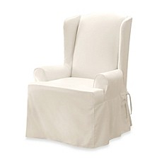 Sure Fit® Twill Supreme Wing Chair Slipcover