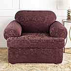 Sure Fit® Stretch Jacquard Damask 2-Piece T-Cushion Chair Slipcover