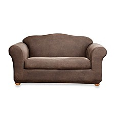 Sure Fit® 2-Piece Stretch Leather Furniture Slipcovers in Brown
