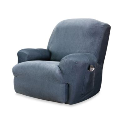 Sure Fit® Stretch Stripe Recliner Slipcover in Navy