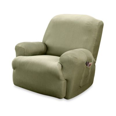 Sure Fit® Stretch Stripe Recliner Slipcover in Sand