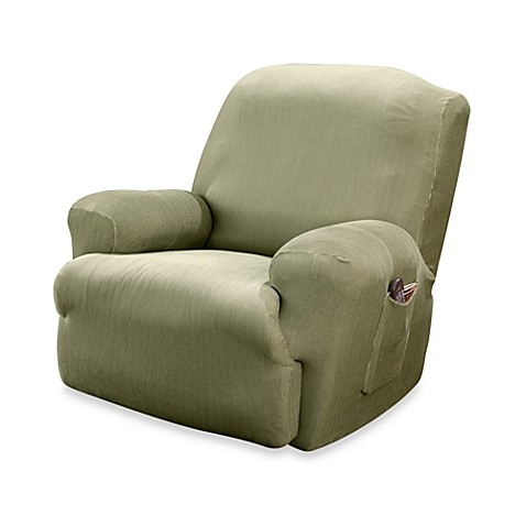 Sure Fit® Stretch Stripe Recliner Slipcover