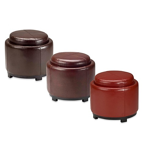 Buy Leather Storage Ottomans From Bed Bath Amp Beyond