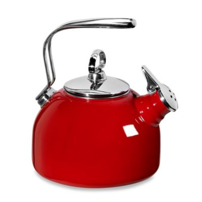 Chantal® Enamel Steel Classic Tea Kettle in Red