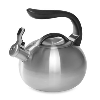 "Chantal® Brushed Stainless Steel 2-Quart ""Bubble"" Tea Kettle"