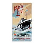 Paris Line Vintage Sea Travel Printed Canvas Wall Art