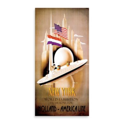 Holland-America Line Vintage Travel Printed Canvas Wall Art
