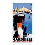 Marseille Vintage Travel Printed Canvas Wall Art