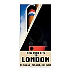 New York to London Vintage Travel Printed Canvas Wall Art