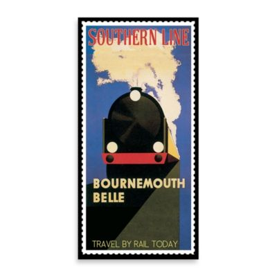Bournemouth Belle Vintage Travel Printed Canvas Wall Art