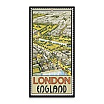 London Vintage Travel Printed Canvas Wall Art