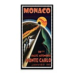 Monaco Vintage Car Rally Printed Canvas Wall Art