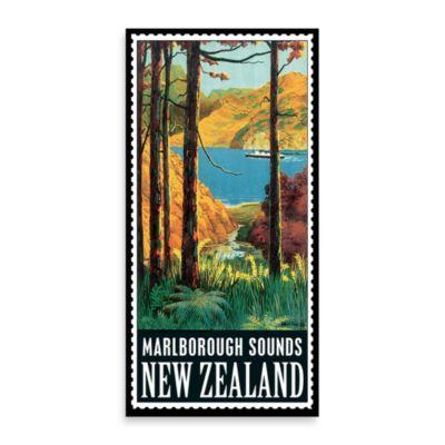 New Zealand Vintage Travel Printed Canvas Wall Art