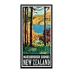 New Zealand Vintage Travel Printed Canvas Wall Art