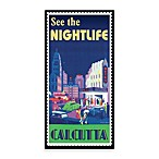 Nightlife Vintage Travel Printed Canvas Wall Art