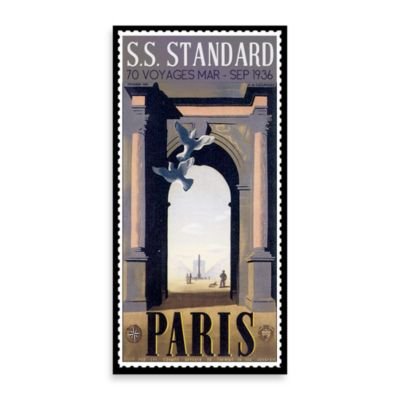 Paris Vintage Travel Printed Canvas Wall Art