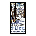 St. Moritz Vintage Travel Printed Canvas Wall Art