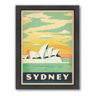 Sydney Vintage Travel Printed Canvas Wall Art