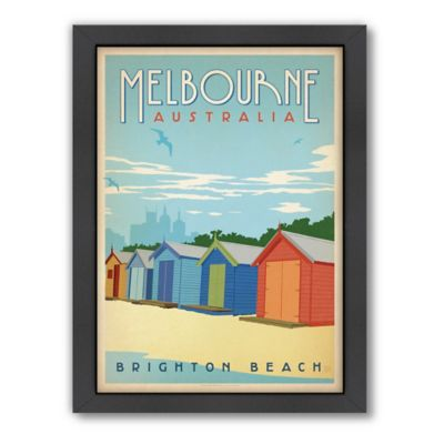 Americanflat Melbourne Vintage Travel Framed Wall Art