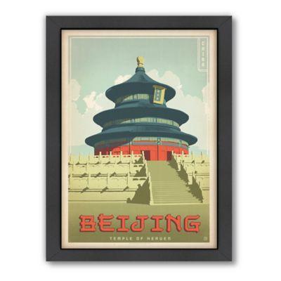 Americanflat Beijing Vintage Travel Framed Wall Art