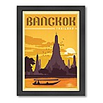 Bangkok Vintage Travel Printed Canvas Wall Art