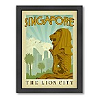 Singapore Vintage Travel Printed Canvas Wall Art