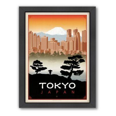 Amerianflat Tokyo Vintage Travel Framed Wall Art